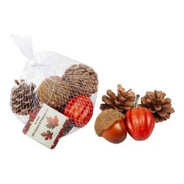 24 Units of Harvest Gourd/pinecone 6pc Decor - Hanging Decorations & Cut Out