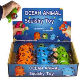24 Units of Ocean Animal Squishy Toy 3ast - Slime & Squishees