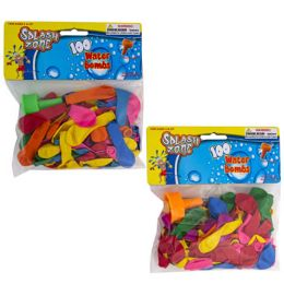 48 Units of Water Balloon 100ct W/1filler - Balloons & Balloon Holder
