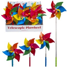24 Units of Pinwheel Rainbow Telescopic Extends To 28in 12pc Pdq - Garden Hoses and Nozzles