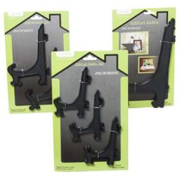 36 Units of Easel Black Plastic 1/2/3pks - Home Accessories