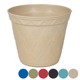 18 Units of Planter Bamboo Fiber Round 6ast - Garden Planters and Pots