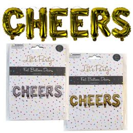 36 Units of Balloon Foil Cheers Gold/silver - Balloons & Balloon Holder