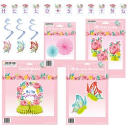 36 Units of Spring Decor Assortment Banner/ - Hanging Decorations & Cut Out