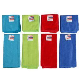 48 Units of Kitchen Textiles Microfiber 2pk 12x12 Dishcloth/15x25 Towel 4ast - Home & Kitchen