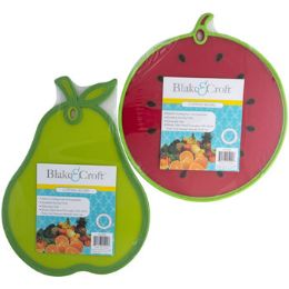 18 Units of Cutting Board Fruit Shape 2ast 12in Plastic Pear/watermelon - Cutting Boards