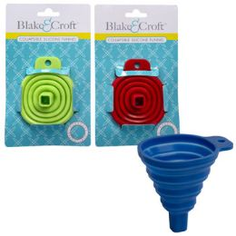 36 Units of Funnel Collapsible Silicone - Strainers & Funnels