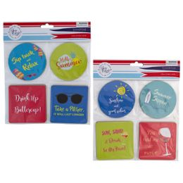 48 Units of Coasters 8pk Paperboard Summer - Party Paper Goods