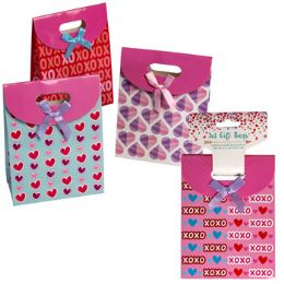 24 Units of Gift Bag Small 3pk Valentine - Gift Bags Assorted