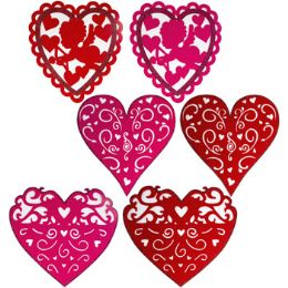 36 Units of Heart Decor 15-16in Felt Diecut - Hanging Decorations & Cut Out