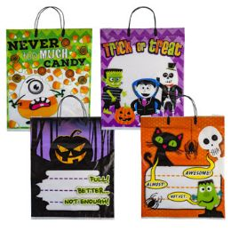36 Units of Trick Or Treat Bag 4ast Plastic - Gift Bags Assorted