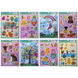 96 Units of Window Clings Easter 8 Asst - Easter