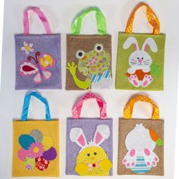36 Units of Treat Bag Easter/spring 6ast - Gift Bags Assorted