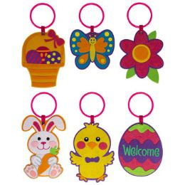 36 Units of Door Hanger Felt 6ast Easter/ - Easter