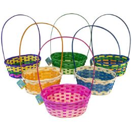 36 Units of Easter Basket Multicolor Weave - Easter
