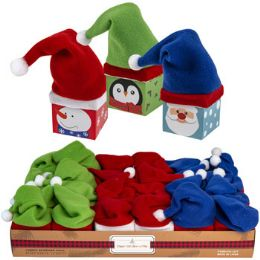 24 Units of Gift Box Mini Paper W/hat 3ast - Party Paper Goods