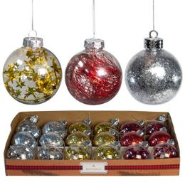 18 Units of Ornament Ball Red/gold/silver - Christmas Ornament