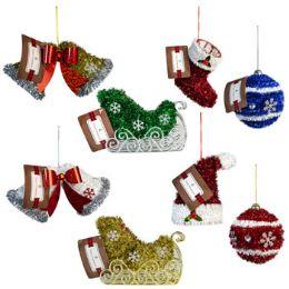 24 Units of Ornament Tinsel 8ast Xmas Header - Christmas Ornament