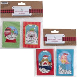 48 Units of Gift Card Holder 2ct/2ast - Party Paper Goods
