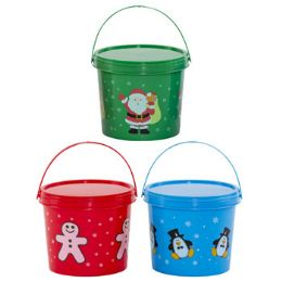 48 Units of Candy Bucket W/lid Plastic - Food & Beverage