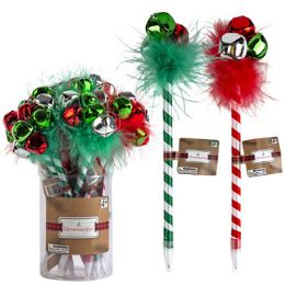 48 Units of Pen Christmas 2ast 9inl Stripe - Christmas