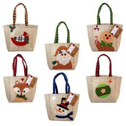 48 Units of Gift Bag Treat Sack Burlap - Gift Bags Assorted