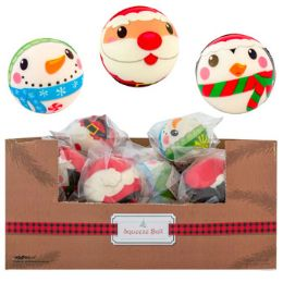 24 Units of Squeeze Ball 3in 3asst Christmas - Christmas