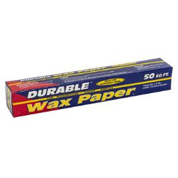 24 Units of Wax Paper 50 Sq Ft 12in X 50ft - Party Paper Goods