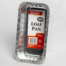 12 Units of Aluminum Loaf Pan 3pk Pp $1.19 - Aluminum Pans