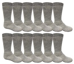 48 Units of Yacht & Smith Kids Merino Wool Thermal Winter Camping Boot Socks - Boys Crew Sock