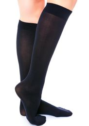 240 Units of Yacht & Smith Girls Knee High Socks, Size 6-8 Solid Navy - Girls Knee Highs