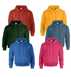 72 Units of Gildan Unisex Mill Graded Irregular 2ND Hooded Pullover Sweat Shirts - Mens Sweat Shirt