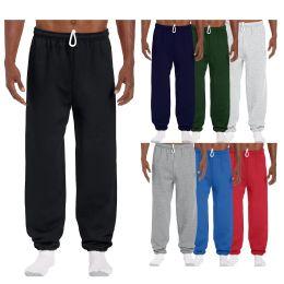 48 Units of Men's Gildan Sweatpants Assorted Sizes And Colors - Mens Pants
