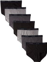 144 Units of Hanes Mens Assorted Colors Briefs Size Medium - Mens Underwear