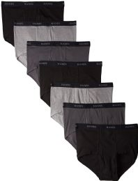 288 Units of Hanes Mens Assorted Colors Briefs Size Large - Mens Underwear