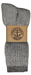 48 Units of Yacht & Smith Mens Terry Lined Merino Wool Thermal Boot Socks - Mens Thermal Sock
