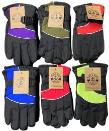 48 Units of Yacht & Smith Kids Thermal Sport Winter Warm Ski Gloves Bulk Pack - Kids Winter Gloves