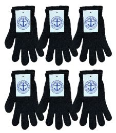 84 Units of Yacht & Smith Unisex Black Magic Gloves - Knitted Stretch Gloves