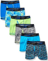 72 Units of Hanes Boys Boxer Brief Assorted Prints Size Large - Boys Underwear