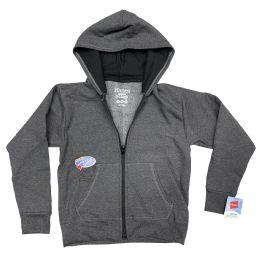 48 Units of Hanes Kids ComfortBlend EcoSmart Full-Zip Hoodie Sweatshirt, With Media Pockets Size S - Boys Sweaters
