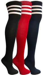 48 Units of Yacht & Smith Womens Over The Knee Referee Thigh High Boot Socks - Womens Over the knee sock