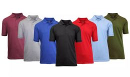 108 Units of Gildan Mens Assorted Color And Sizes Irregular Polo Golf Shirts - Mens Polo Shirts