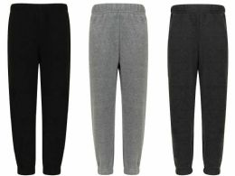 96 Units of Mens Assorted Colors And Sizes Polar Fleece Joggers With Side Pockets - Mens Sweatpants