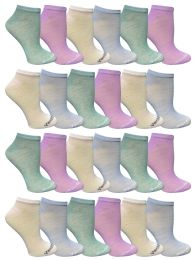 72 Units of Yacht & Smith Women's Light Weight No Show Loafer Ankle Socks In Assorted Pastel - Womens Ankle Sock