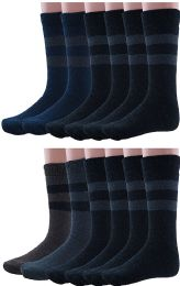 240 Units of Yacht & Smith Mens Rabbit Wool Thermal Socks, Shoe Size 7-12 - Men's Socks for Homeless and Charity