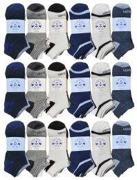 480 Units of Yacht & Smith Assorted Pack Of Mens Low Cut Printed Ankle Socks Bulk Buy - Men's Socks for Homeless and Charity