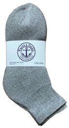 60 Units of Yacht & Smith Kids Cotton Quarter Ankle Socks In Gray Size 6-8 Bulk Pack - Boys Ankle Sock