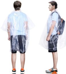 40000 Units of Yacht & Smith Unisex One Size Reusable Rain Poncho Clear 60G PE - Event Planning Gear