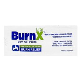 600 Units of Cooling Gel - Burnx Lite First Aid Cooling Gel Packet 1/8 oz. Foil Packet - First Aid and Hygiene Gear