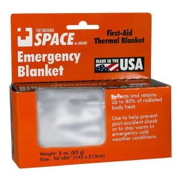 108 Units of Emergency Blanket - Space Brand Emergency Blanket 56 inch x 84 inch - First Aid and Hygiene Gear